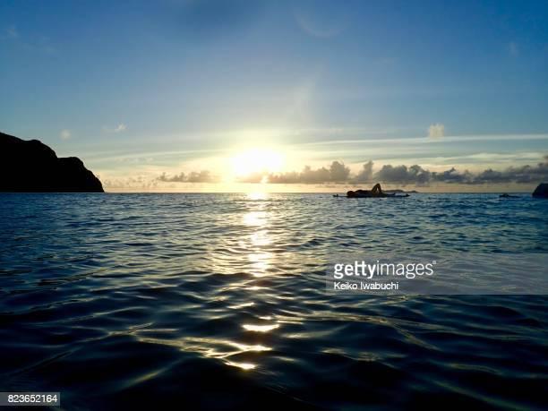 Sunset in Zamami island, Okinawa, Japan
