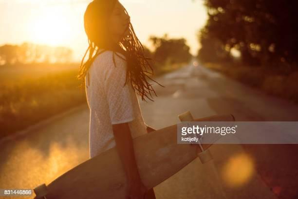 Coucher du soleil de la joie