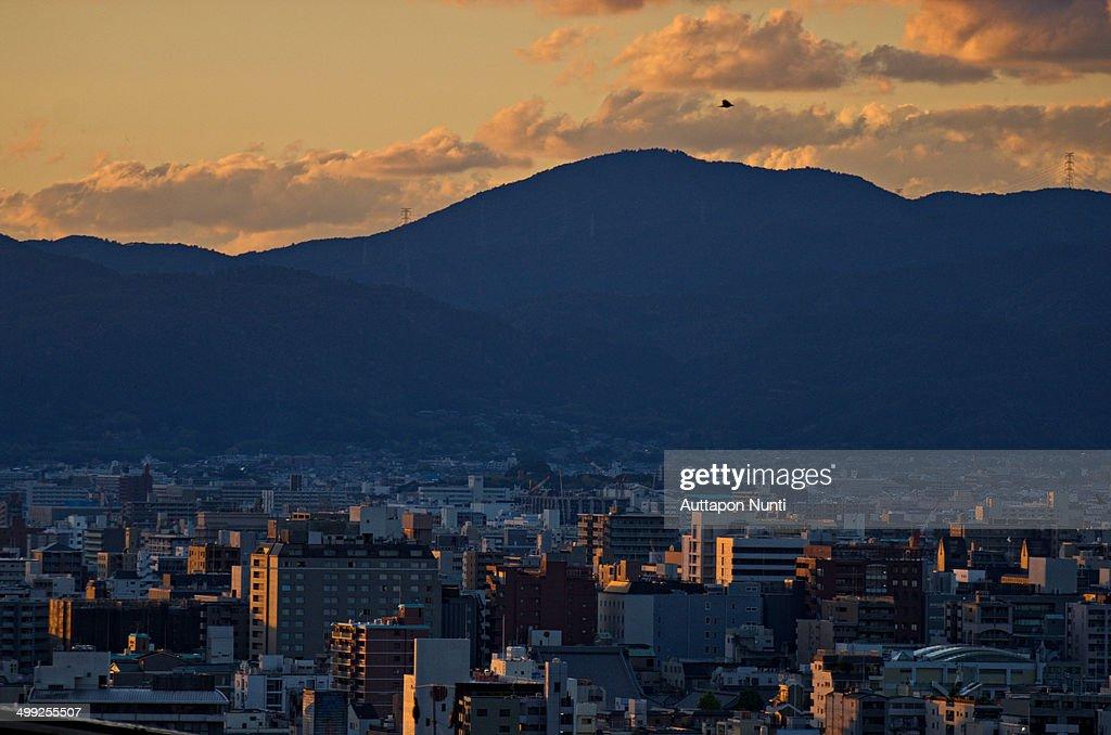 Sunset Kyoto : Stock Photo