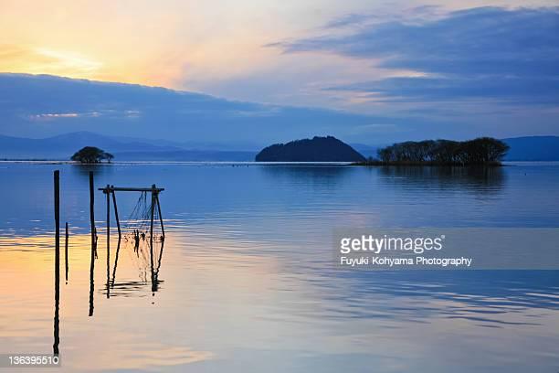 Sunset lake Biwa