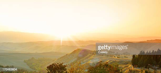 Sonnenuntergang Landschaft der Toskana
