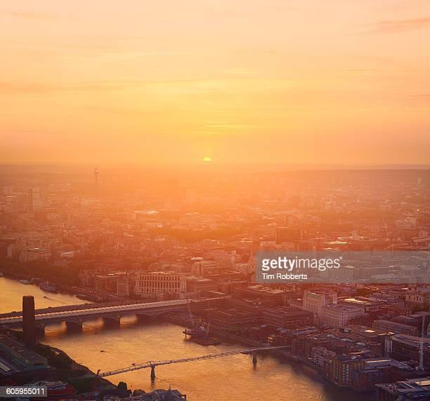 Sunset light in London.