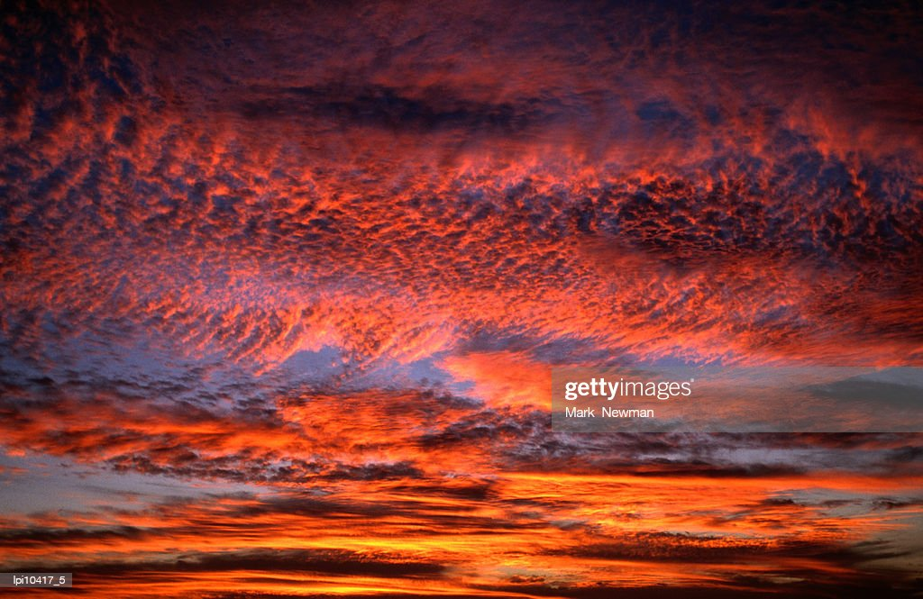 Sunset lighting up the Kona coast sky, Kailua-Kona, United States of America : Stock Photo
