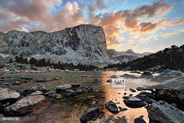 Sunset, mount hooker, Bridger-Teton National Forest, Wyoming, USA