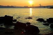 Sunset of Gwangan Bridge