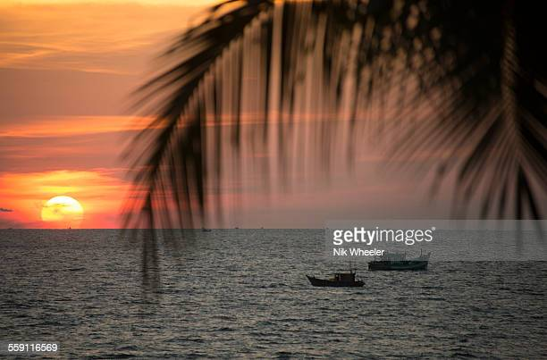 Sunset of Island of Phu Quoc
