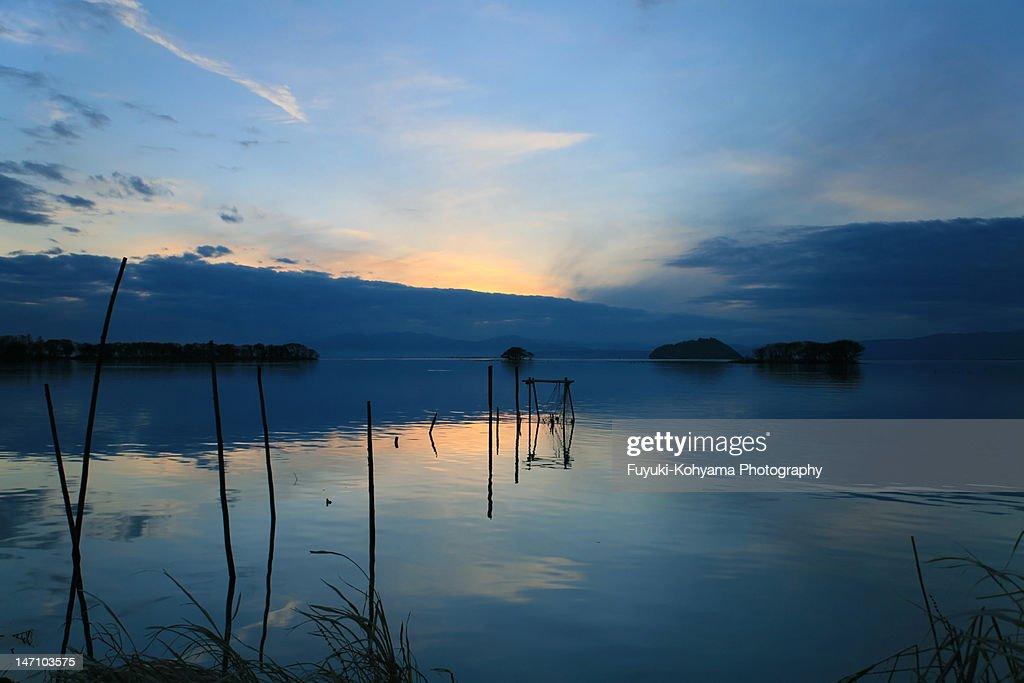 Sunset of Lake Biwa