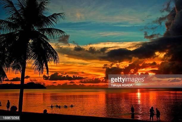 Sunset of Tamuning beach