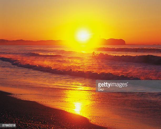 Sunset of Tsujido Beach