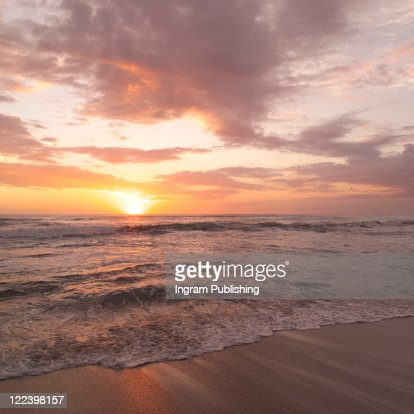 Sunset off the Coast of Costa Rica : Stock Photo