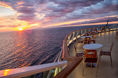 Sunset on a Cruise Ship