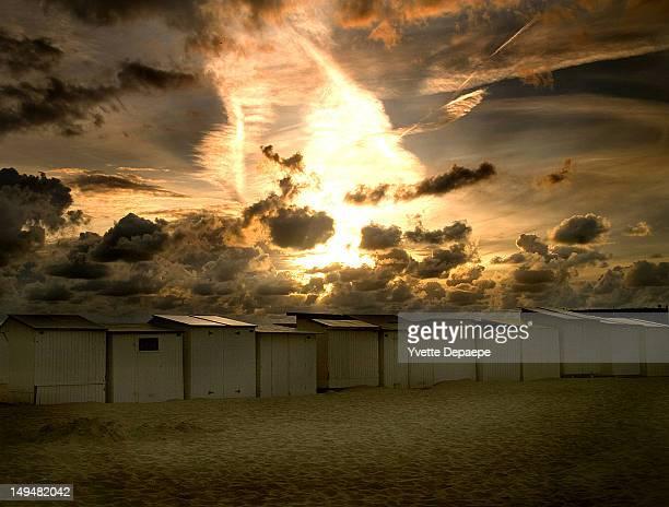 Sunset on Belgian coast