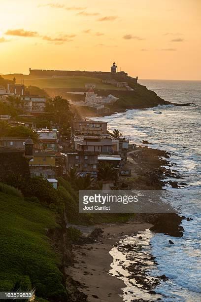 Sunset on coast of San Juan, Puerto Rico