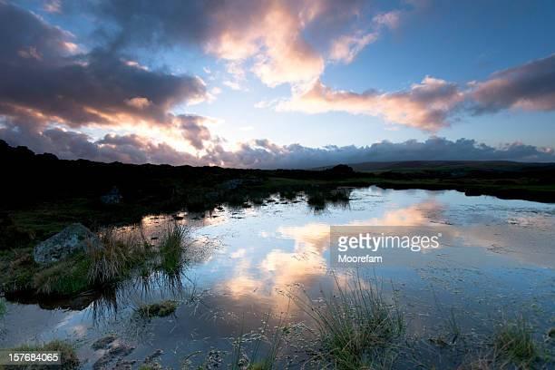 Sunset on Dartmoor near Haytor
