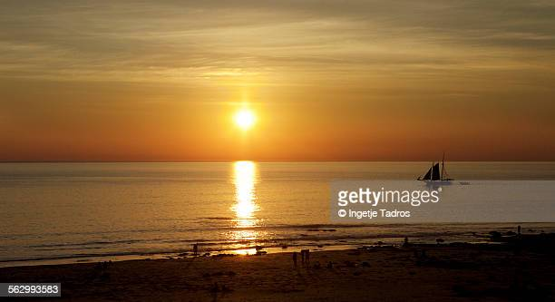 Sunset on famous Cable Beach in Broome