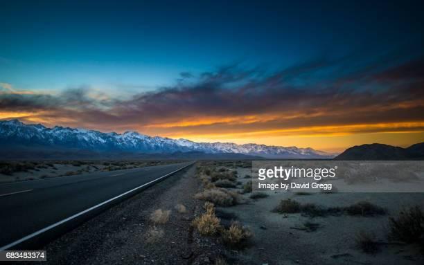 Sunset on Highway 136