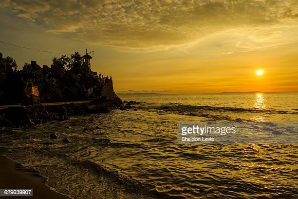 Sunset on iconic Hindu temple on Lombok