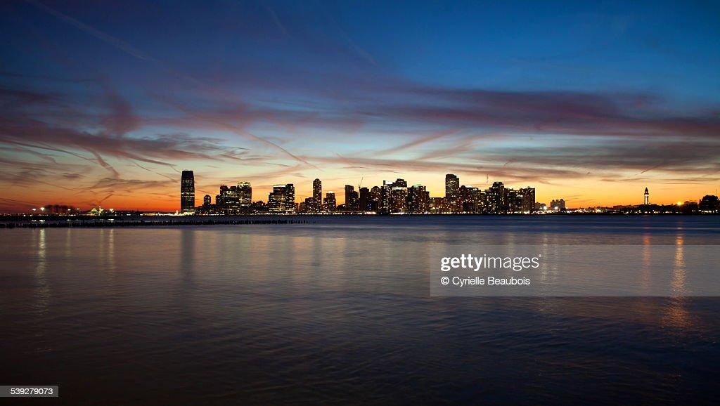 Sunset on Jersey city