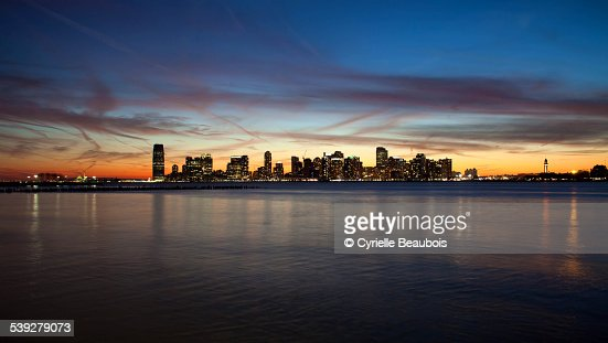 Sunset on Jersey city