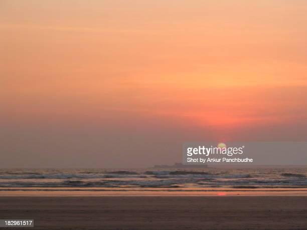 Sunset on Kasa fort near Murud