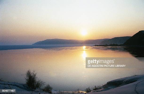 Sunset on Lake Baikal Siberia Russia