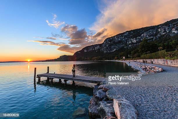 日没で湖ガルダ,イタリア