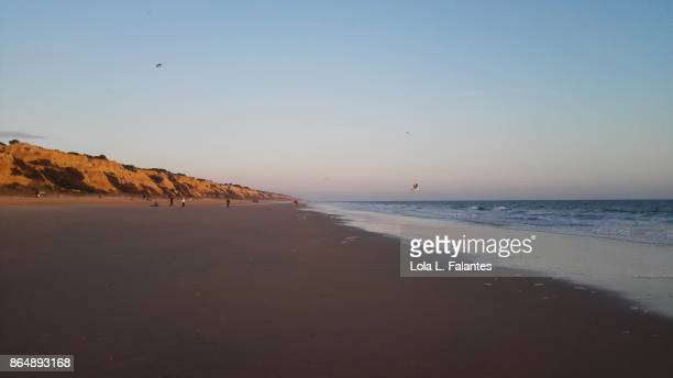 Sunset on Mazagon beach, Doñana natural park