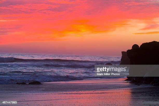 Sunset on Monterey Bay,  California, USA
