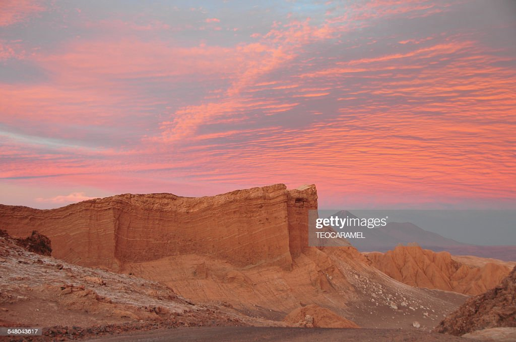 Sunset on Moon Valley : Stock Photo