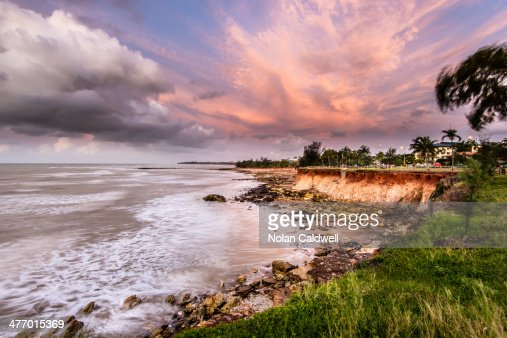 Sunset on Nightcliff shore