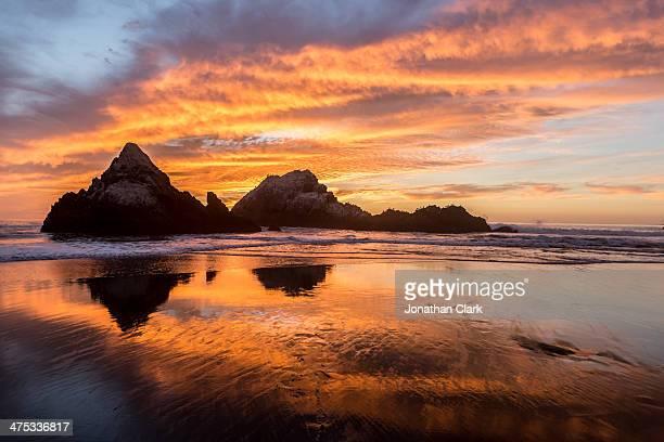 Sunset on Ocean Beach, San Francisco