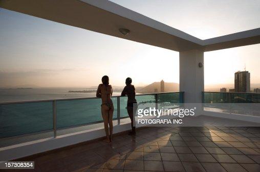 Sunset on Panama Deck