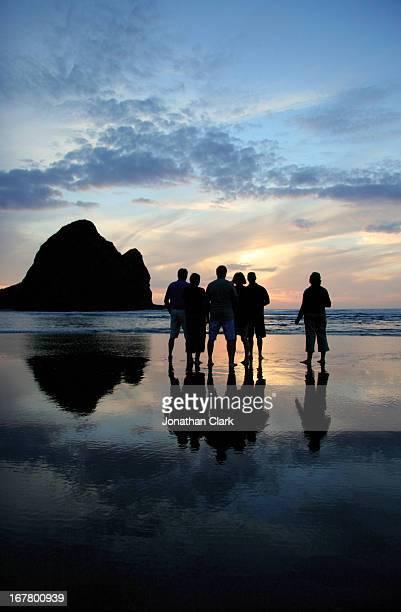 Sunset on Piha Beach