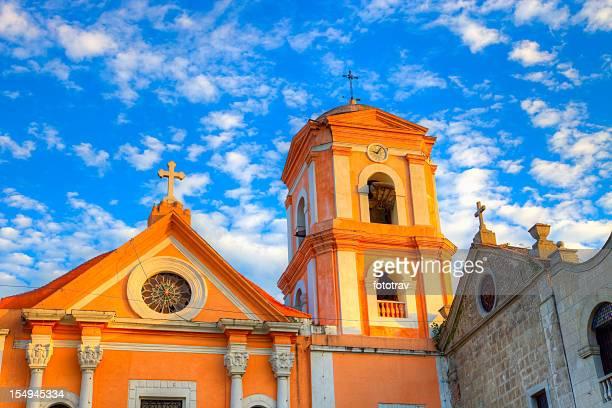 Tramonto sulla chiesa di San Agustin Intramuros di Manila, Filippine