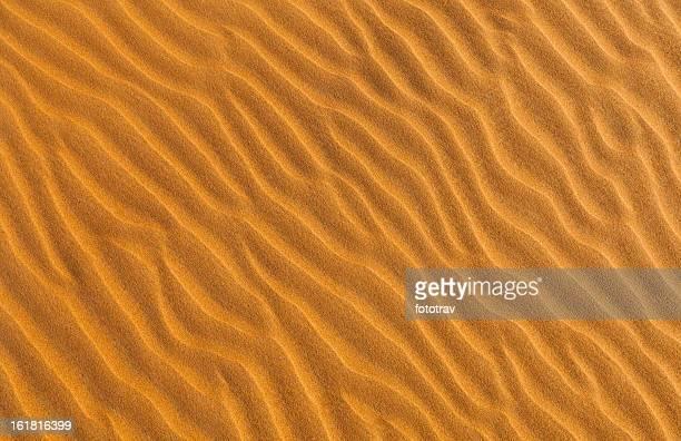 Coucher de soleil sur les dunes de sable à Dubaï, Émirats arabes unis