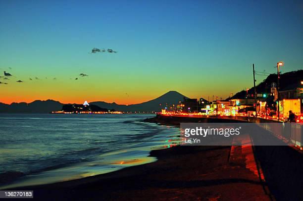 Sunset on Shonan Beach