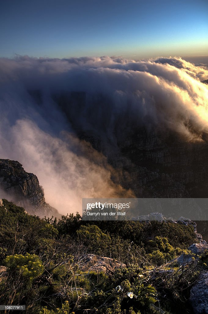Sunset on Table Mountain : Stock Photo