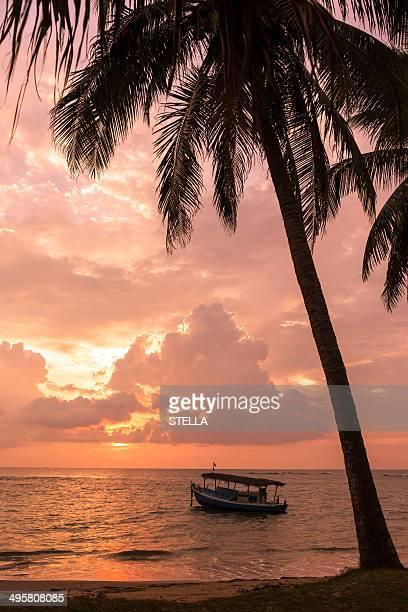 Sunset on the beach, Beruwala, Westkuste, Westprovinz, Sri Lanka