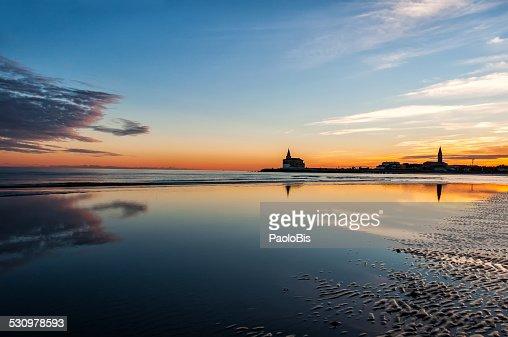 Sunset on the beach, Caorle, Venice