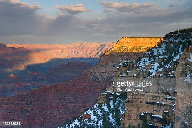 Sunset on the Grand Canyon from Mather Point, Grand Canyon National Park, Arizona, USA