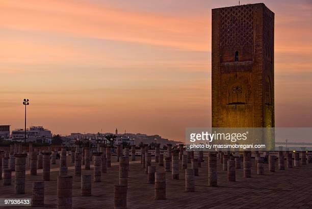 Sunset on the Hassan Tower