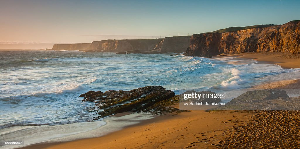 Sunset on the Pacific Coast : Stock Photo