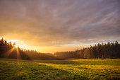 Sunset on the Pasture