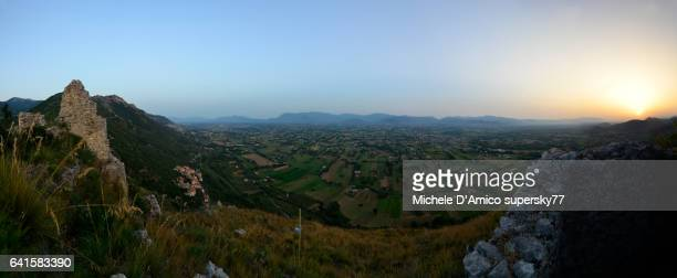 Sunset on the sweet hilly landscape of central Italy.