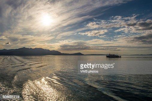 Sunset over Arran : Foto de stock