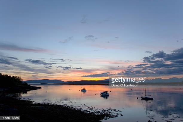 Sunset over bay, Connel, Argyll & Bute, Scotland