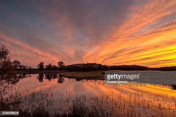 Sunset Over Bear Swamp Pool