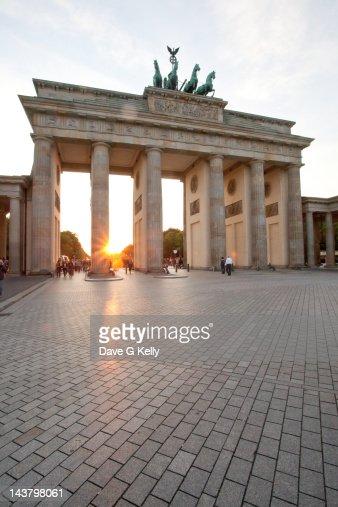 Sunset over Brandenburg Tor