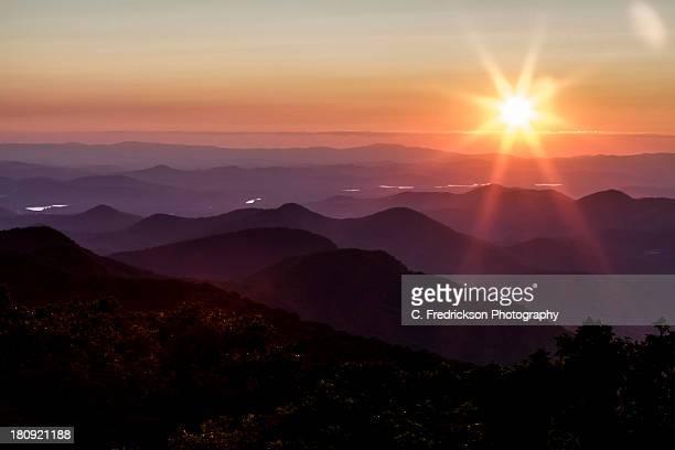 Sunset over Brasstown Bald