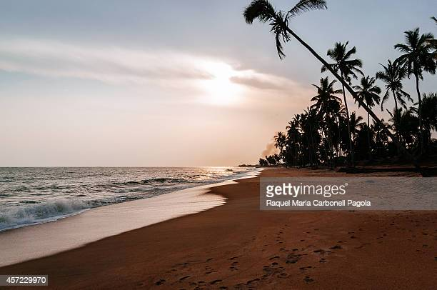 Sunset over Brenu beach